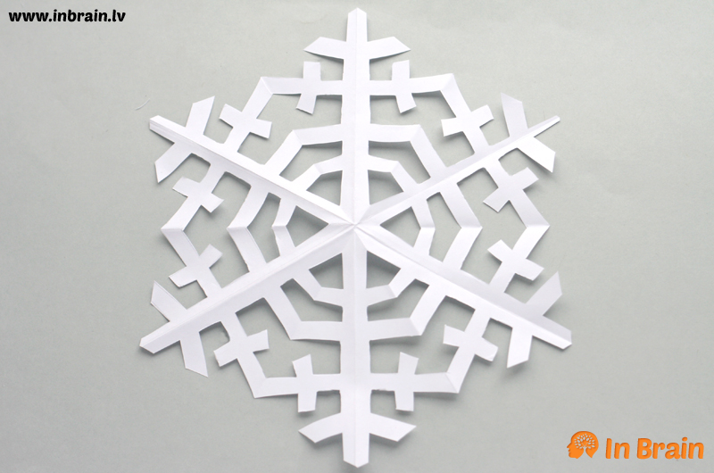 sniegpārsliņas no papīra