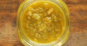 rabarberu un apelsīnu ievārījums