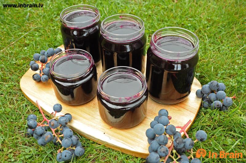 vīnogu želeja