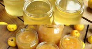 cidoniju ievārījums un cidoniju sīrups